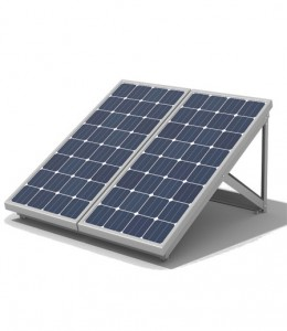 Off grid solar power systems on white background